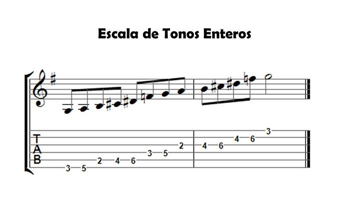 Escala de tonos enteros